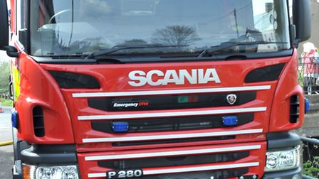 A hedge caught fire in Queensway, St Neots, on Saturday.