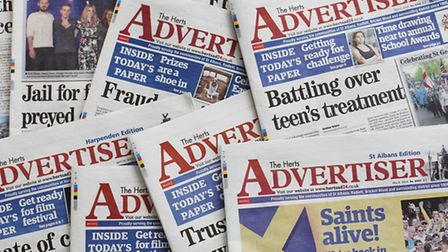 Herts Advertiser front pages