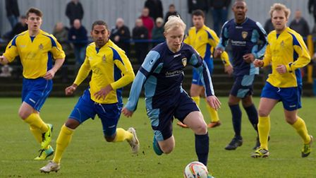 St neots Town have acted quickly to keep Lewis Hillard at the club. Picture: Claire Howes