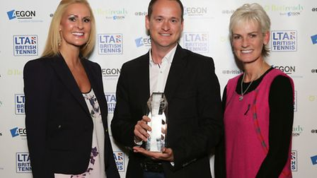 Jon Meredith, of Batchwood High Performance Centre, was awarded performance coach of the year. He is