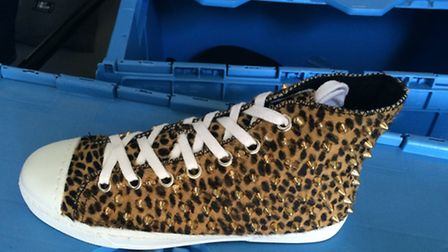 15 pairs of these Gienchi shoes, worth £125 each, were stolen in the £20,000 raid.