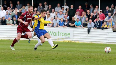 John Frendo has a shot at goal. Picture: Leigh Page