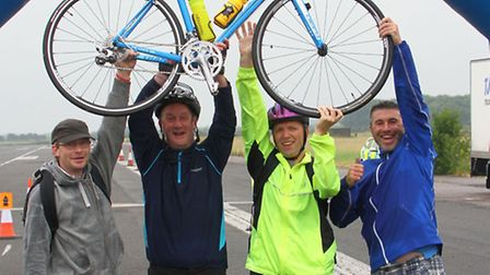 Two Wheels for Woodlands cyclists at Alconbury Weald. Picture: COLIN BENNETT