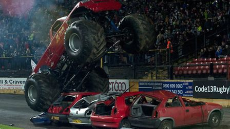 Monster trucks like this one will be revved up and raring to go at Jubilee Park, Huntingdon.