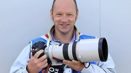 Harpenden's Marc Aspland, The Times' chief (staff) sports photographer. Photo courtesy of The Times