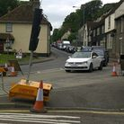 A bust water main caused traffic delays in Royston