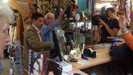 Dr Who actor Bernard Cribbins and entertainer Barry Cryer visited the Fleetville Village Emporium in