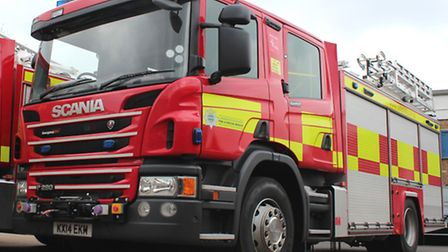 Firefighters were called to an accident on the Huntingdon Bypass on Saturday.