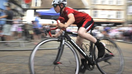 St Ives Nocturne, cycle racing, Under 8s/10s girls and boys race.