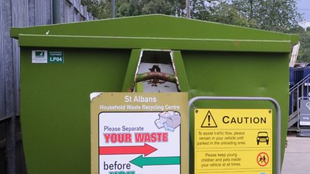 St Albans recycling depot.