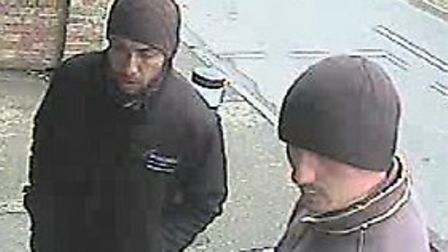 Two men police want to talk to in connection with a skimming device in Sawtry