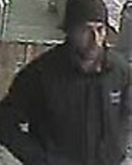One of the men police want to talk to about a skimming device in Sawtry
