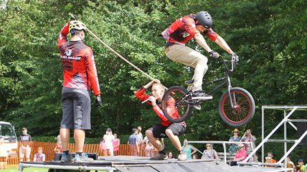 Stunt Riders entertain the crowds