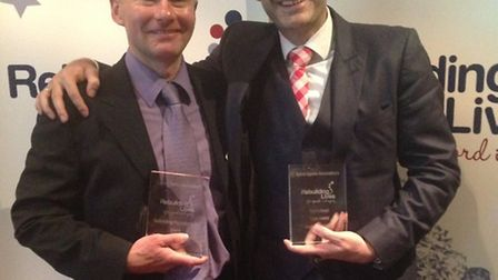 Andrew Galbraith and Andy Uttridge with their awards