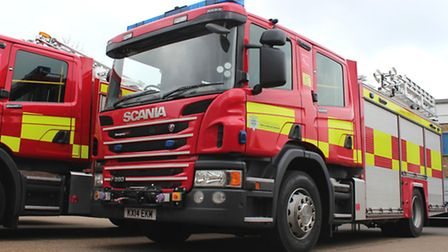 Firefighters were called to an industrial unit off Caxton Road yesterday.