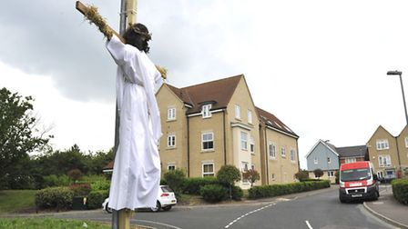 Godmanchester Scarecrows, at Stokes Drive.