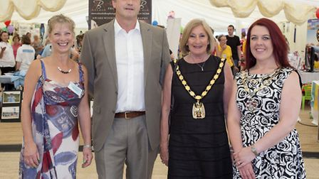Linda Turner Chair of Royston Open Secrets, The Royston town centre manager Geraint Burnell Chair