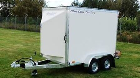 Thieves have stolena trailer, similar to this, filled with camping equipment throwing a scout event