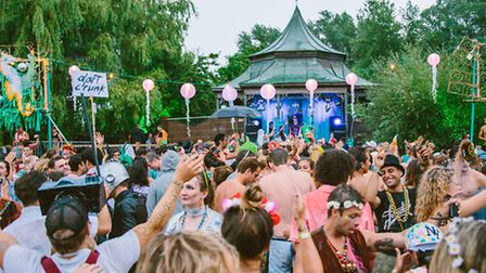 Revellers at the Secret Garden Party. Picture: ANDREW WHITTON.