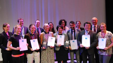 Alan Gray (second from the right) with the silver award winners