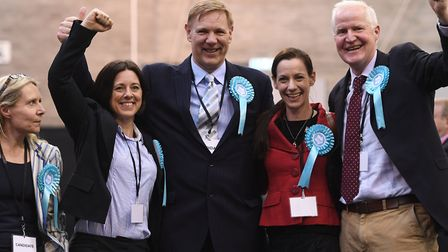 Brexit Party's Jonathan Bullock (middle) is one of this week's Brexiteers of the week. Picture: Joe