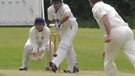 Warboys batsman Alec Grange top scored with 52 in their win against Waresley. Picture: Helen Drake