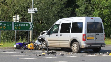 The male motorcyclist suffered 'life changing injuries' in the crash