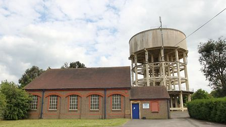 The water tower in Harpenden