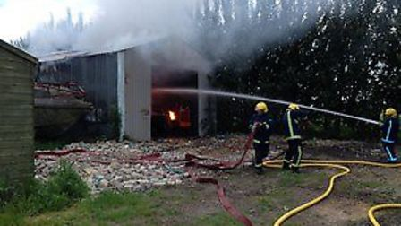 Firefighters tackled the blaze.
