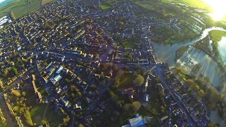 Aerial picture of Godmanchester by Ben Worsam