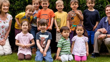 The five sets of twins at the pre-school and nursery - picture by Ben Jacobs