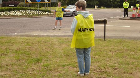 Marshals have been volunteering on behalf of the Wendy Gough Cancer Awareness Foundation to help at
