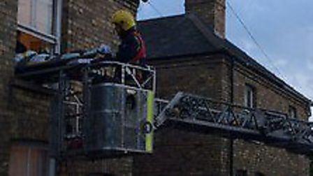 Firefighters rescued a man from a house in St Ann's Lane, Godmanchester.