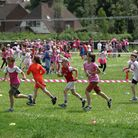 Pupils of Grove Junior school taking part in the Race for Life