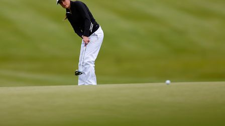 HEXHAM, ENGLAND - JUNE 13: Lucy Williams of Mid Herts Golf Club putts on the 18th green during the f