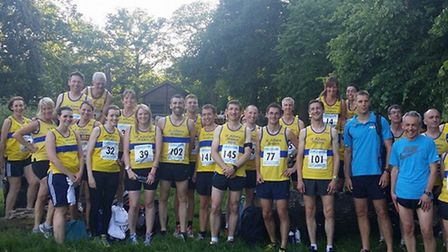 The Striders teams at Trent Park.