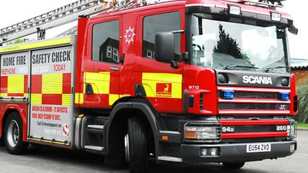 Fire crews attended a crash on Gunnels Wood Road in Stevenage yesterday afternoon
