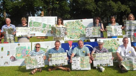 Project team with some of the new Wheathampstead heritage trail information