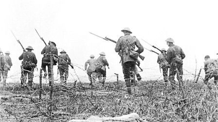 Soldiers on the battlefield.