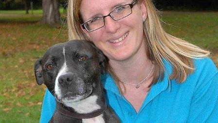 NHH's Nicola Pearson with her dog, Lucy