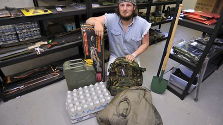 Lincoln Miles, at his new Preppers Shop, Roxton.