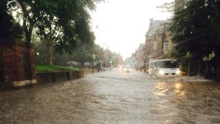 Floods in Melbourn Street following Sunday's storm (Pic: Craig Ransley)