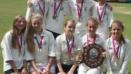 Back: from left, Charlotte Caswell, Emma Clarke, Luella Base, Amy Turner. Front: from left, Abi Edbr