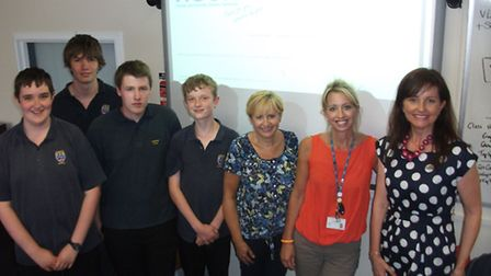 Longsands students (from left) Matthew Hurrell, Daniel Thorpe, Owen Standage and James Cass, with pa