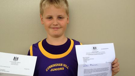 Marcus Cunnington with his letters from Parliament