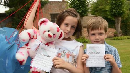 Emily and Jack Marsden with their certificates.