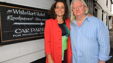 Hotel Inspector's Alex Polizzi filming at White Hart Hotel