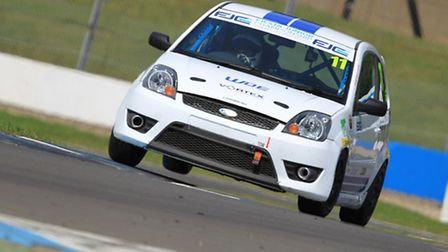 Rob Cox in action at Donington Park. Picture: AJB Photographic
