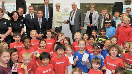 Judy Murray officially opens the Batchwood Sports Centre in St Albans. Photo courtesy of Chris Chris