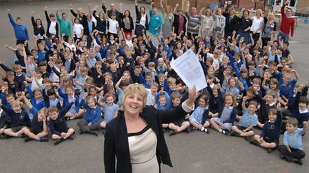 Holywell Primary School, Needingworth, received an outstanding Ofsted report, Head teacher Julie Bra